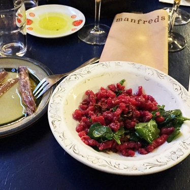 Tartare at Manfreds & Vin