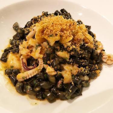 Trofie Nero pasta with octopus and breadcrumbs  at Ai Fiori