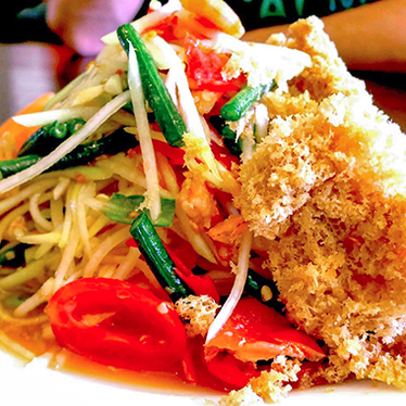 A-7: Crispy ground catfish at SriPraPhai Thai Restaurant