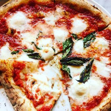 Margherita pizza  at Babbo Pizzeria