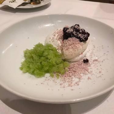 Sorrel granita, crème fraîche at Luce