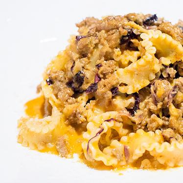 Reginette gorgonzola e salsiccia at Terroni