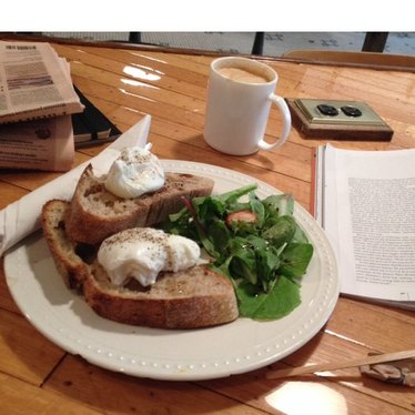 Poached Eggs on toast at Nelson the Seagull