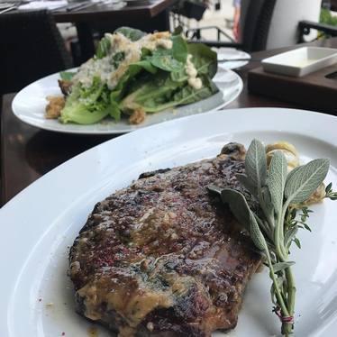 Steak and salad at Salt & Char