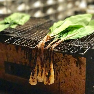 Roasted ramps at McCrady's
