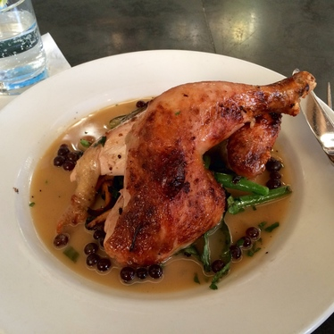 Oven roasted Mary's Chicken at Serpentine