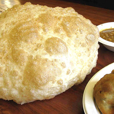 Cholle bhature at Vik's Chaat Corner