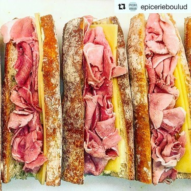 Housemade jambonbeurre // ham and cheese at Épicerie Boulud
