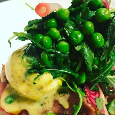 Creole ham, eggs and peas at Commander's Palace
