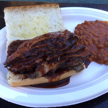 Tri-tip sandwich at Buster's Southern BBQ