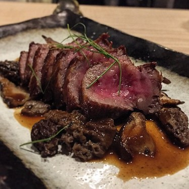 A5 wagyu with morels at Shuko
