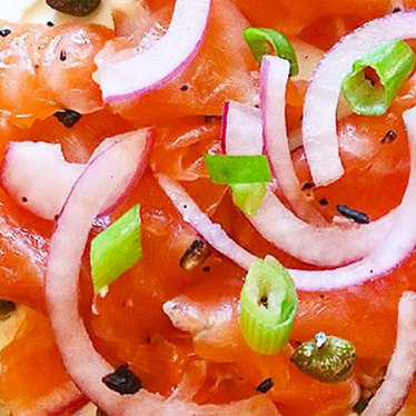 House-smoked salmon bagel at Mayfield