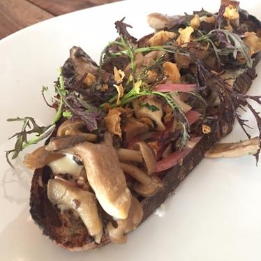 Mushroom Tartine at Petit Crenn