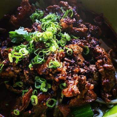 Spicy Sichuan Boiled Beef  at Ma'ono Fried Chicken & Whisky