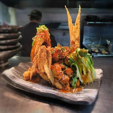 Fried whole fish at La Mar by Gaston Acurio at Mandarin Oriental, Miami