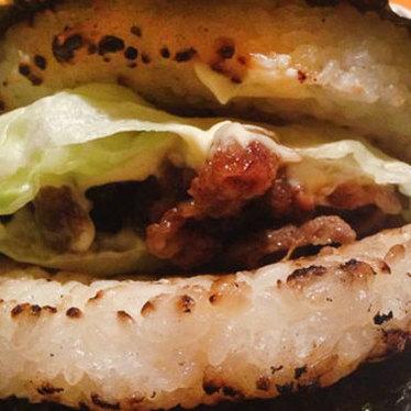Beef and rice burger at Wa Dining OKAN