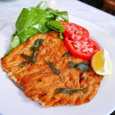 Chicken milanese at Frank Restaurant