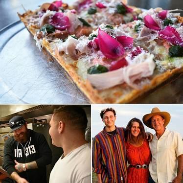 """Katie Pie"" pizza at Juniper"