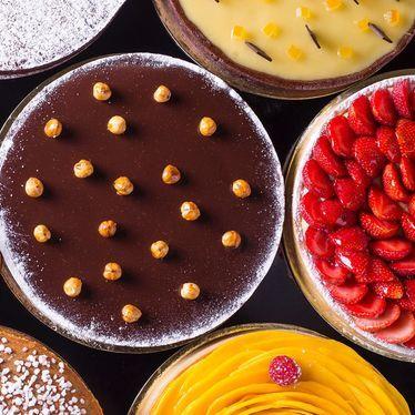 Chocolate and strawberry cakes at Tartine Bakery