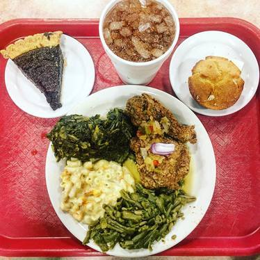 Pie, fried chicken, collard greens, mac and cheese at Arnold's Country Kitchen