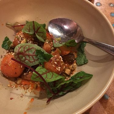 State birds, chawan mushi, and carrot gnocchi at State Bird Provisions
