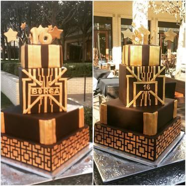 Sweet sixteen chocolate cake at La Duni Latin Kitchen & Coffee Studio