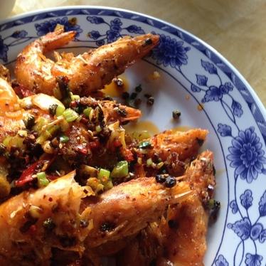 Spicy Shrimp at Golden Loong Restaurant
