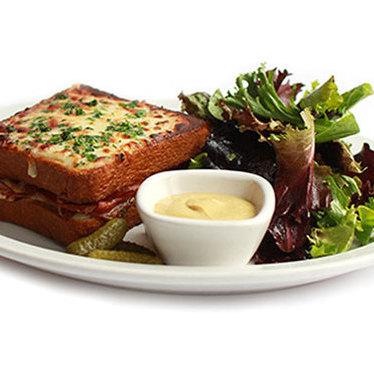Croque monsieur at Pistacia Vera at North Market