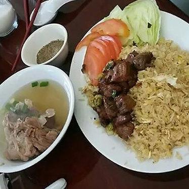 Beef lok lok at golden lake eatery