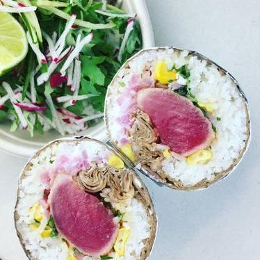 Ahi tuna burrito at My Ceviche Brickell