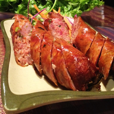 Lao sausage at Champa Garden