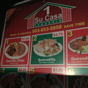Carneasada burrito at Su Casa Taqueria