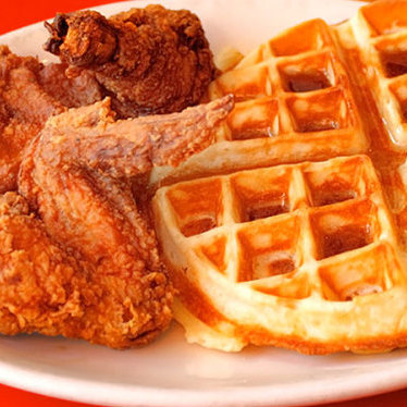 Chicken and waffle at Hard Knox Cafe
