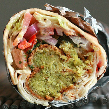 Falafel wrap at Kabobji
