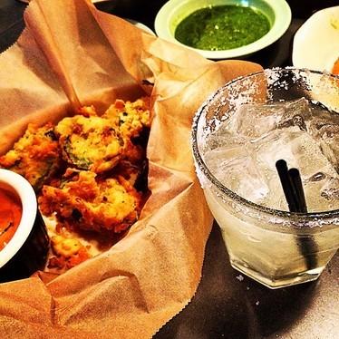Fried jalapeños and margarita  at The El Felix