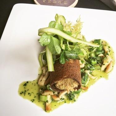 Vegan asparagus dish at Vedge