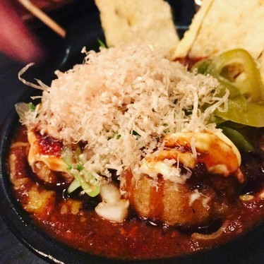Texas Chile Takoyaki at Kemuri Tatsu-ya