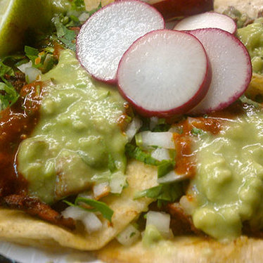 Al pastor tacos at Leo's Taco Truck