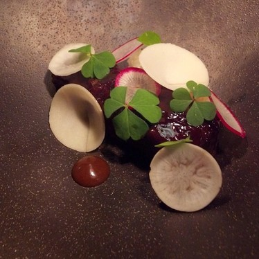 Glazed rib with vegetables and hoisin sauce at Vintage Cave Honolulu