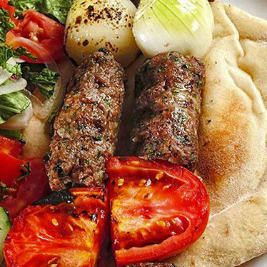 Falafel sandwich at Bitar's