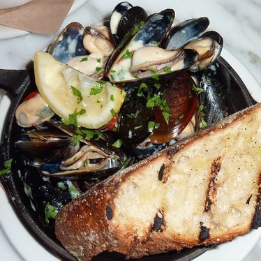 Pot-roasted mussels at Eveleigh