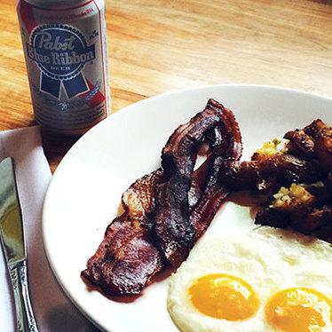 PBR breakfast at Longman & Eagle