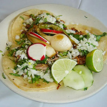 Cemitas with carnitas and chorizo at Tacos El Bronco