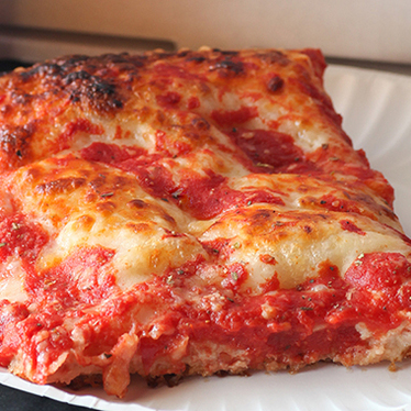 Grandpa's Sicilian pizza at Pino's La Forchetta