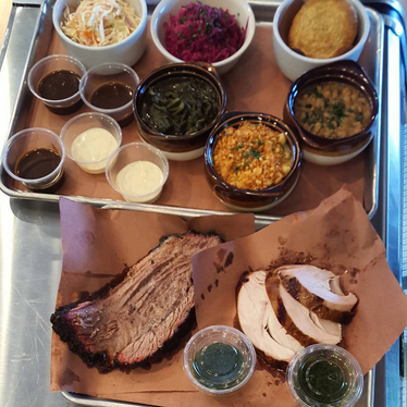 Smoked meat and sides at Maple Block Meat Company