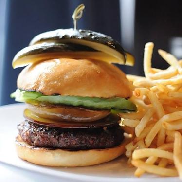 Absinthe hamburger at Absinthe Brasserie & Bar
