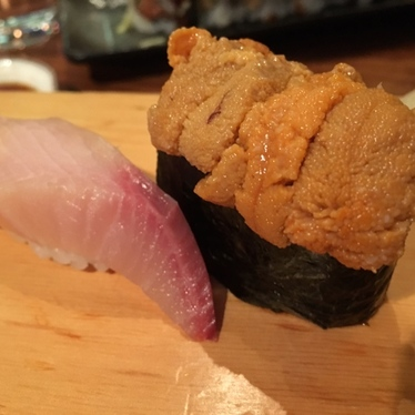 Uni & Hamachi Nigiri at Yama Sushi