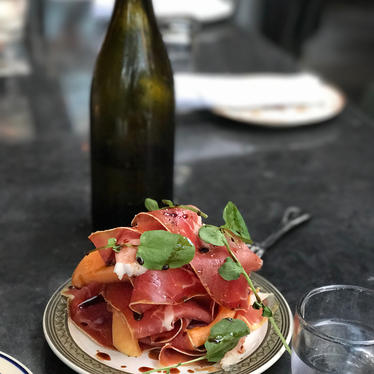 Prosciutto and melon at Hatchet Hall