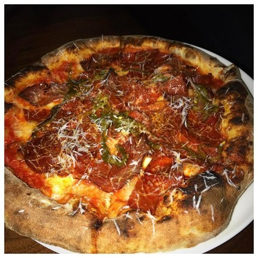 Spicy pizza at WM. Mulherin's Sons