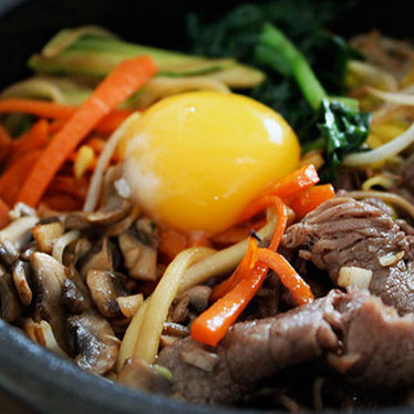 Dolsot bibimbap at Korea House
